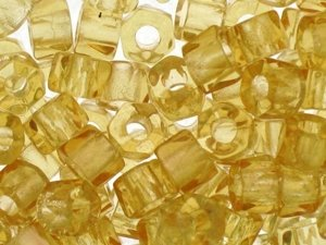 Fire Polished Roller Beads Light Amber 6mm 10szt