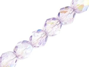 Fire Polished Round Beads Violet AB 6mm 20szt