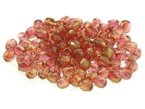 Fire Polished Round Topaz AB 3mm 20szt