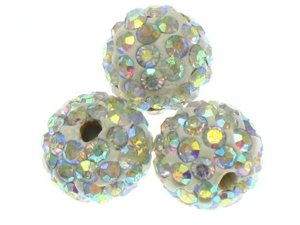 Koraliki Shamballa Disco Ball Crystal AB 10mm 2szt