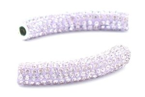 Koraliki Tunel Shamballa Disco Light Ametyst 53mm 1szt