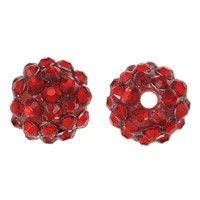 Koraliki do Shamballa Disco Ball Blood Red 12mm 2szt