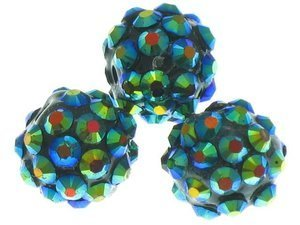 Koraliki do Shamballa Disco Ball Colorful Plated 12mm 2szt