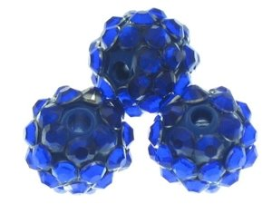 Koraliki do Shamballa Disco Ball Dark Blue 12mm 2szt