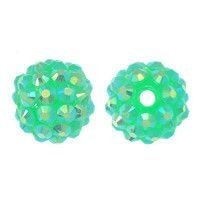 Koraliki do Shamballa Disco Ball Light Green 12mm 2szt