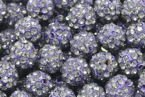 Koraliki do Shamballa Disco Ball Tanzanite 10mm 1szt
