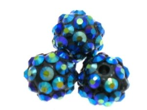 Koraliki do Shamballa Disco Dark Blue 12mm 2szt