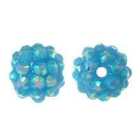 Koraliki do Shamballa Disco Light Blue 12mm 2szt