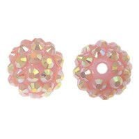 Koraliki do Shamballa Disco Light Pink 12mm 2szt