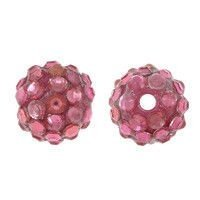 Koraliki do Shamballa Disco Lotus Red 12mm 2szt