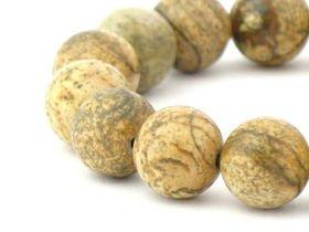 Kamień Jaspis Krajobrazowy 10mm 2szt