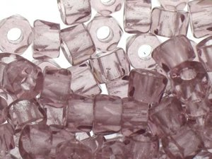 Fire Polished Roller Beads Light Violet 6mm 10szt