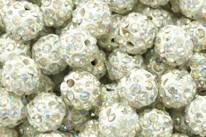 Koraliki Shamballa Disco Ball Crystal AB 10mm 10szt Hurt
