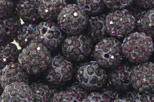 Koraliki Shamballa Disco Ball Dark Purple 10mm 2szt