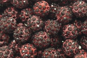 Koraliki Shamballa Disco Ball Deep Red 10mm 2szt