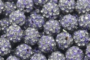 Koraliki Shamballa Disco Ball Purple 10mm 2szt